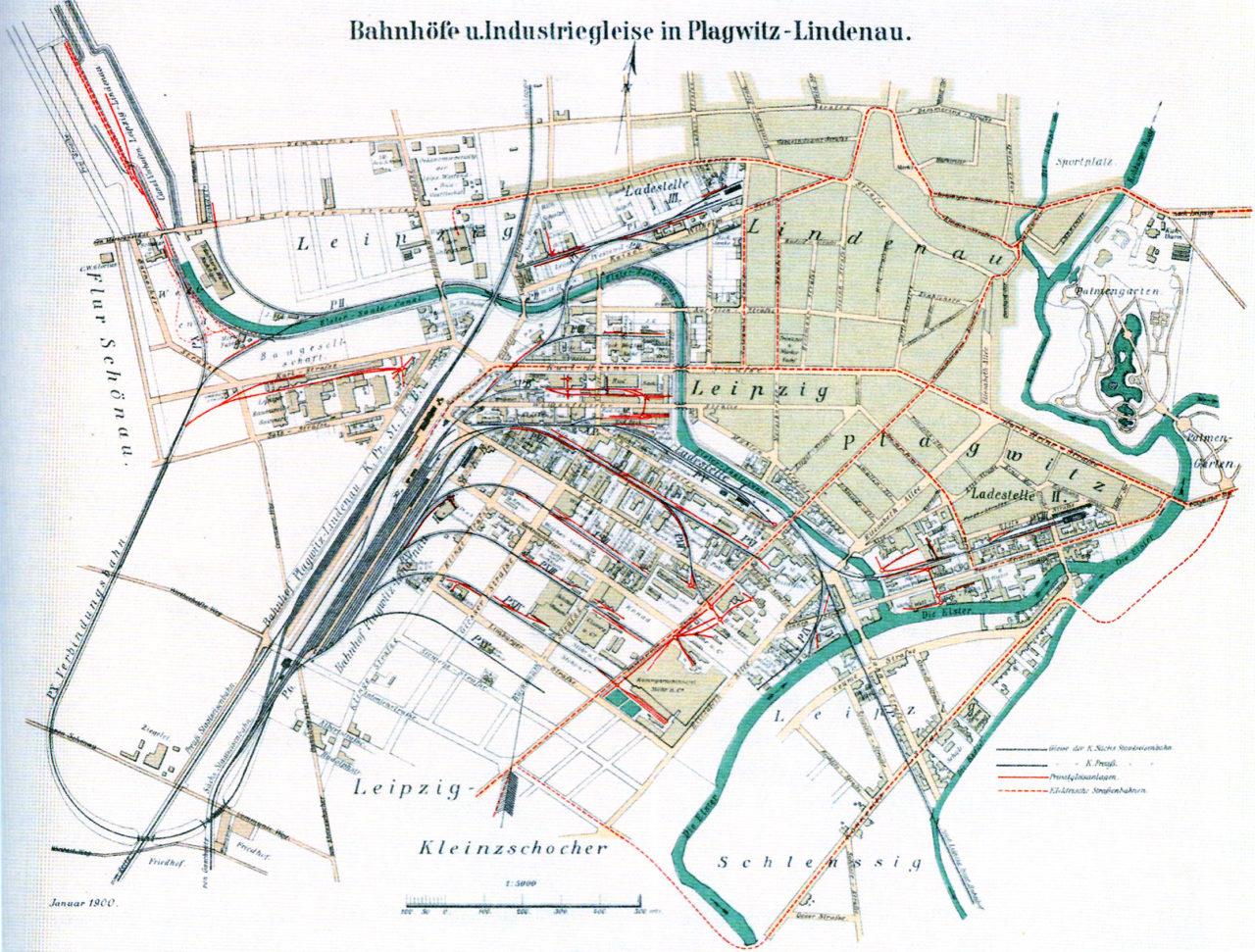Karte aus dem Jahr 1900