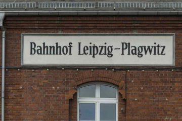 Stationsschild Bahnhof Plagwitz